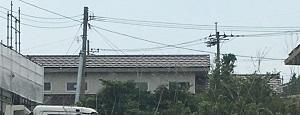 家の東側の外観