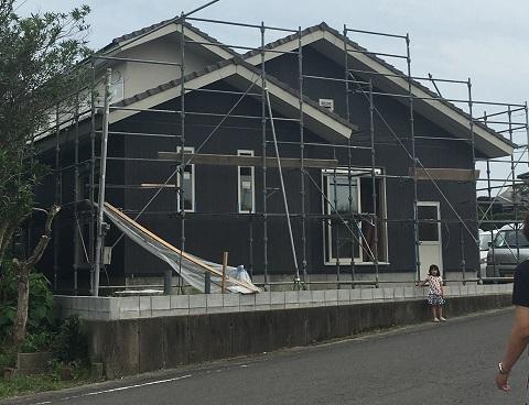 家の北側の外観