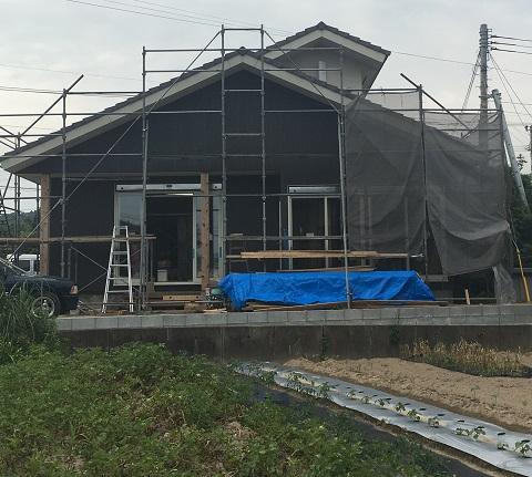 家の南側の外観
