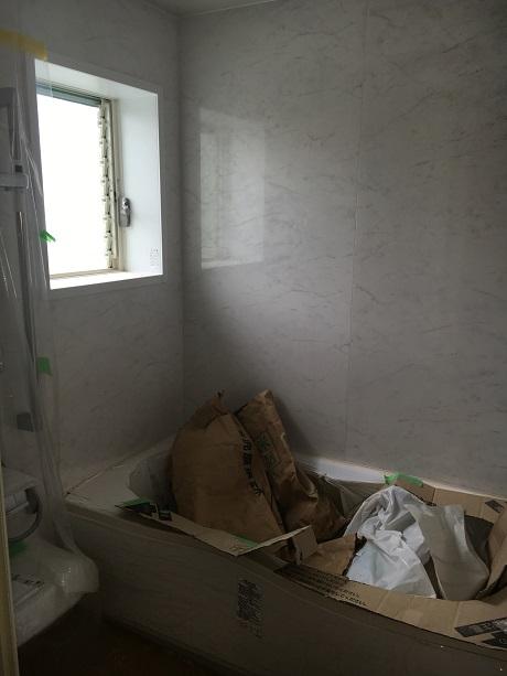 入居前のバスルーム