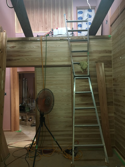 上がロフトになっている息子の部屋