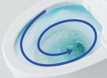 トルネード洗浄中の便器