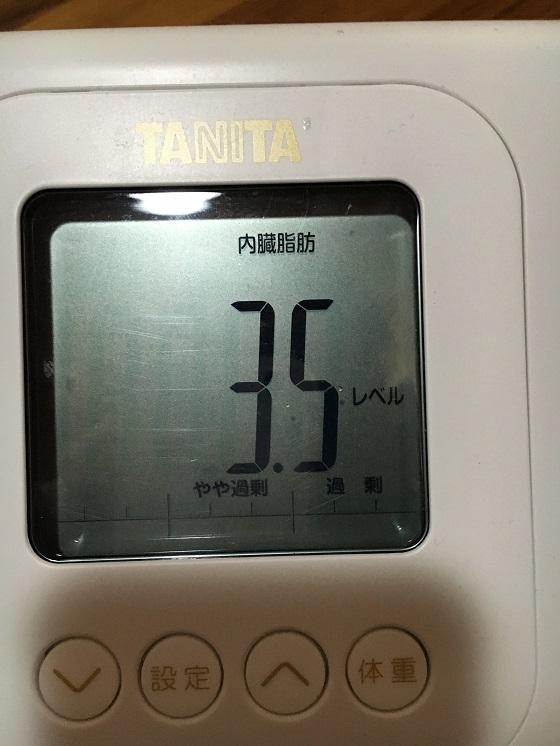 体重計(内臓脂肪レベル3.5)