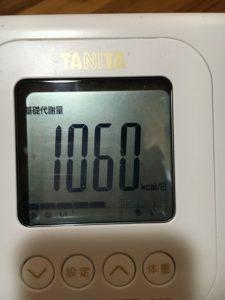 基礎代謝量1060kcal/日