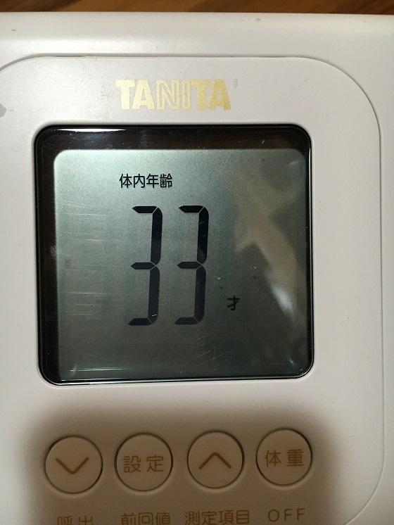 体重計(体内年齢33才)