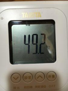 49.2kgの体重