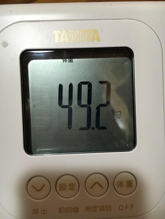 体重計(49.2キロ)