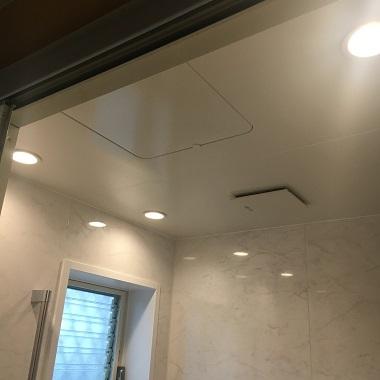 ダウンライトの天井