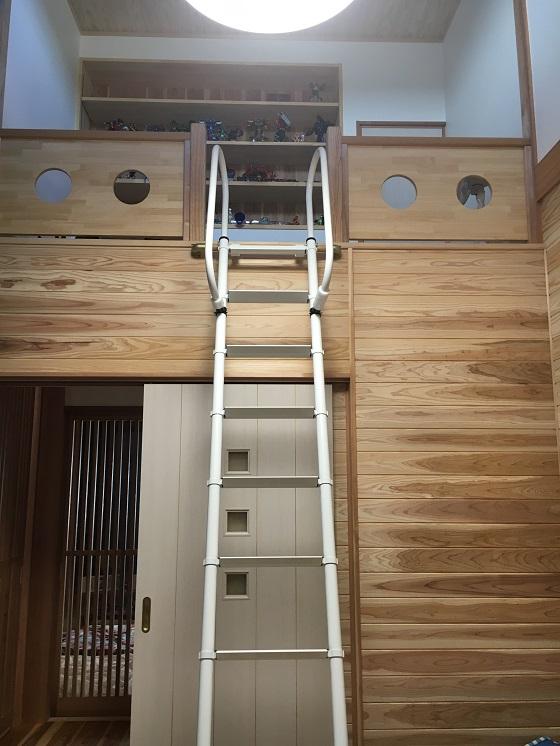 息子の部屋のはしご