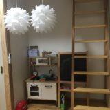 【WEB内覧会 子供部屋(男女別)】ロフトと光る壁紙。ボルダリングもありますよ!