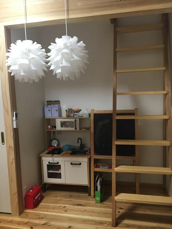 娘の部屋のIKEAのキッチン