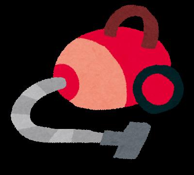 コード付き掃除機のイラスト