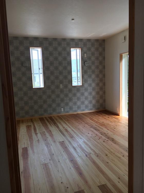塗り終わっていた寝室