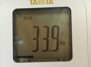 筋肉量33.9kg