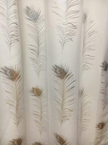 羽根柄のカーテンの生地