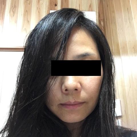 タオルドライ後の髪