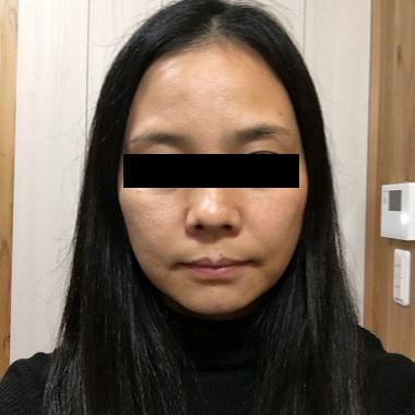 化粧が崩れた私の顔
