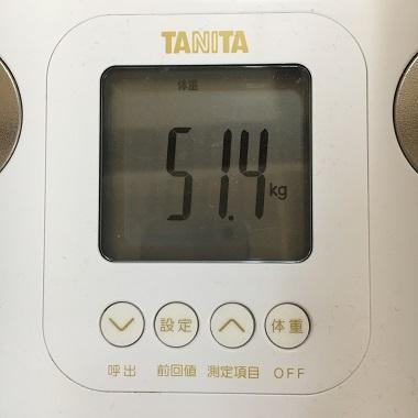 51.4キロの体重