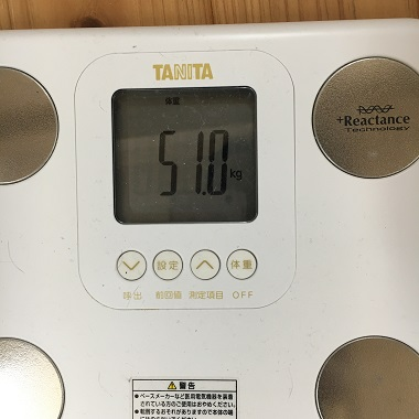 51.0キロの体重