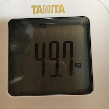 49.7キロの体重