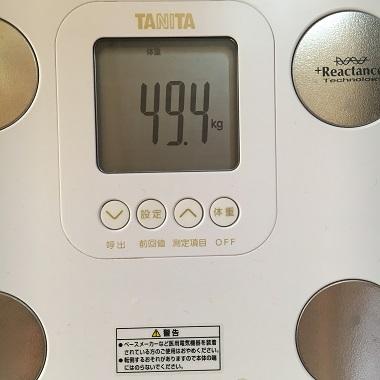 49.4キロの体重