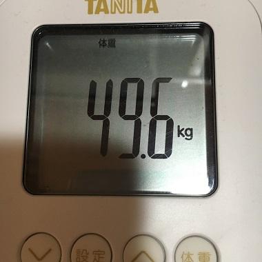 49.6キロの体重