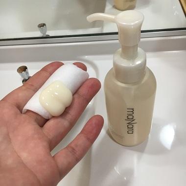 モイストウォッシュゲルで拭くだけの洗顔