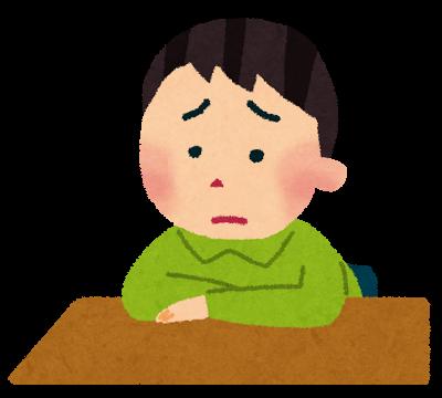 悩む子供の絵