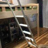 【WEB内覧会 男の子の部屋】背の高いベッドを置くと収納力がアップ!