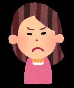 怒る女性の絵