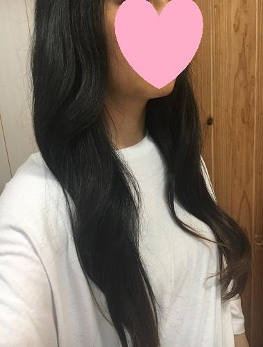 全体を巻いた髪