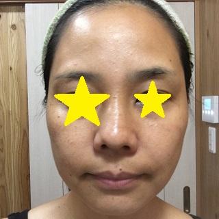 洗い上がりの私の顔
