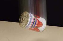 セラミックトップに缶詰を落としてみる