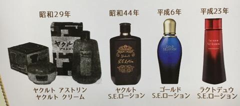 ヤクルトの化粧品の歴史(パンフレットより)