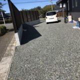 【WEB内覧会 外構】砂利+防草シートで手入れがいらない庭に!ウッドフェンスも完成