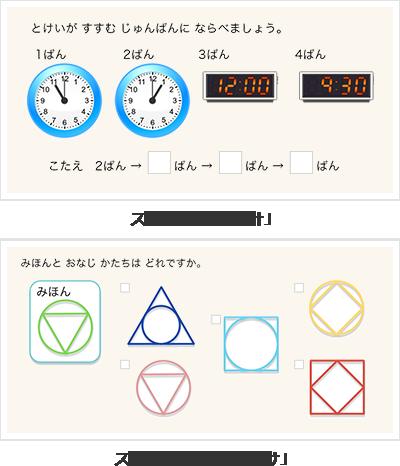 RISUキッズ「時計」と「仲間分け」